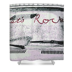 Lets Rock Shower Curtain by Ludzska