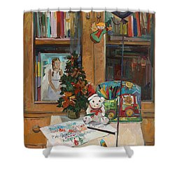 Letter To Santa Claus Shower Curtain
