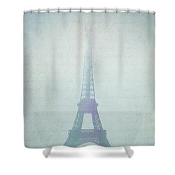 Letters From Paris Shower Curtain by Lisa Parrish