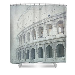 Letters From The Colosseum Shower Curtain by Lisa Parrish