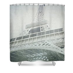 Letters From The Eiffel - Paris Shower Curtain by Lisa Parrish