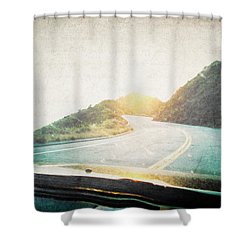 Letters From The Road Shower Curtain by Lisa Parrish