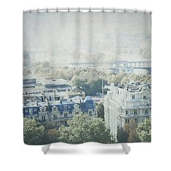 Letters From The Seine - Paris Shower Curtain by Lisa Parrish