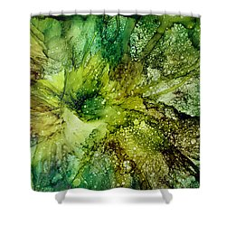 Shower Curtain featuring the painting Lettuce Flower by Kathy Sheeran