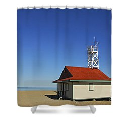 Leuty Lifeguard Station In Toronto Shower Curtain by Elena Elisseeva