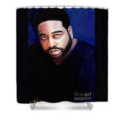Shower Curtain featuring the painting Levert by Vannetta Ferguson