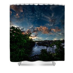 Lewiston In July Shower Curtain by Bob Orsillo