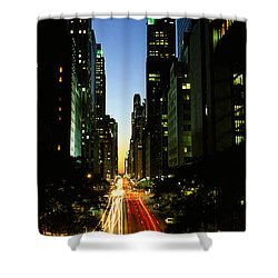 Lexington Avenue, Cityscape, Nyc, New Shower Curtain by Panoramic Images