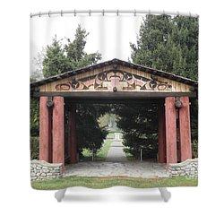 Lheit-li Nation Burial Grounds Entrance Shower Curtain