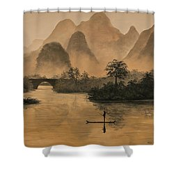 Li River China Shower Curtain