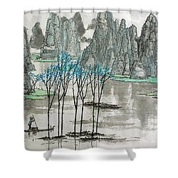 Li River In Spring Shower Curtain
