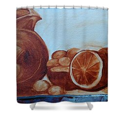 Libations Shower Curtain