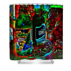 Libations Shower Curtain by Linda Bianic
