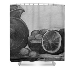 Libations Bw Shower Curtain