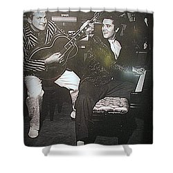 Liberace And Elvis Shower Curtain