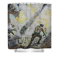 Liberator's Guardian Angles Shower Curtain