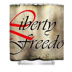 Liberty Freedom Shower Curtain by Daniel Hagerman