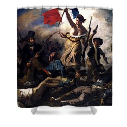 Liberty Leading The People During The French Revolution Shower Curtain by War Is Hell Store