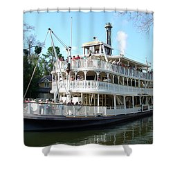 Shower Curtain featuring the photograph Liberty Riverboat by David Nicholls
