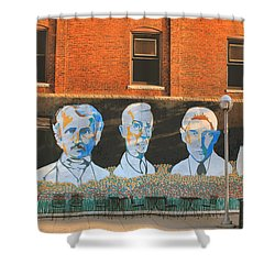 Liberty Street Mural Shower Curtain by Pat Cook