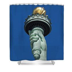 Liberty Torch Shower Curtain by Brian Jannsen