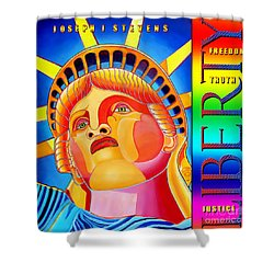 Liberty  Shower Curtain by Joseph J Stevens