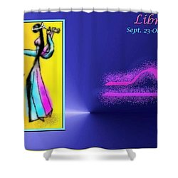 Shower Curtain featuring the digital art Libra by The Art of Alice Terrill