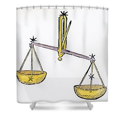 Libra An Illustration From The Poeticon Shower Curtain by Italian School