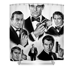 Licence To Kill  Bw Shower Curtain