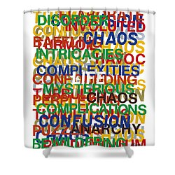 Life Shower Curtain by Agustin Goba