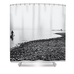Life At Mekong River Shower Curtain by Setsiri Silapasuwanchai