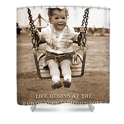 Life Begins Shower Curtain by Terri Waters