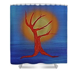 Shower Curtain featuring the painting Life Blood By Jrr by First Star Art