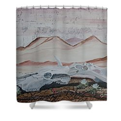 Life From Death In The Desert Shower Curtain by Ian Donley