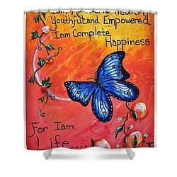 Life - Healing Art Shower Curtain by Absinthe Art By Michelle LeAnn Scott