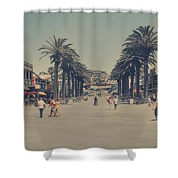 Life In A Beach Town Shower Curtain by Laurie Search