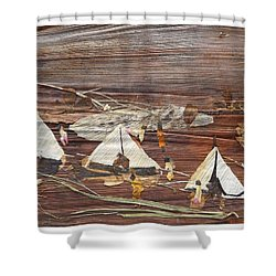 Life In Tents Shower Curtain by Basant Soni