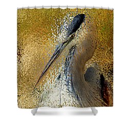 Life In The Sunshine - Bird Art Abstract Realism Shower Curtain