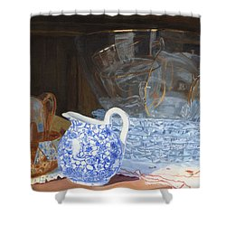 Life Is A Carnival Glass Shower Curtain by Lynne Reichhart