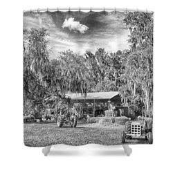 Shower Curtain featuring the photograph Life On The Farm by Howard Salmon