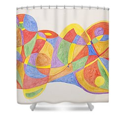 Graffiti Life  Shower Curtain by Stormm Bradshaw