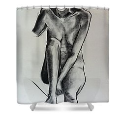 Life Study Shower Curtain