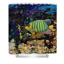 Life Underwater Shower Curtain by Jean Cormier
