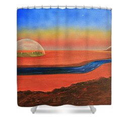 Life Will Find A Way Shower Curtain by Tim Mullaney