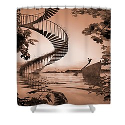 Life Without Stairs Shower Curtain