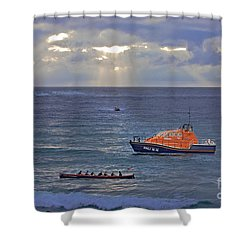 Lifeboats And A Gig Shower Curtain