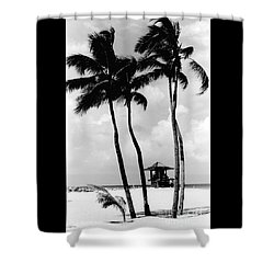 Lifeguard Hut Shower Curtain by Gary Gingrich Galleries
