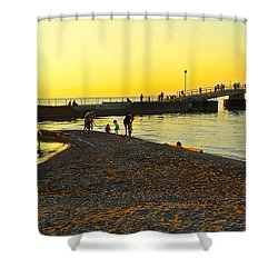 Lifes A Beach Shower Curtain by Frozen in Time Fine Art Photography