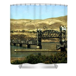 Lift Bridge Over The Columbia River Shower Curtain