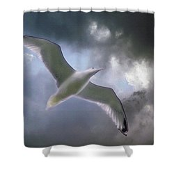 Lift - Oil Paint Effect Shower Curtain by Brian Wallace